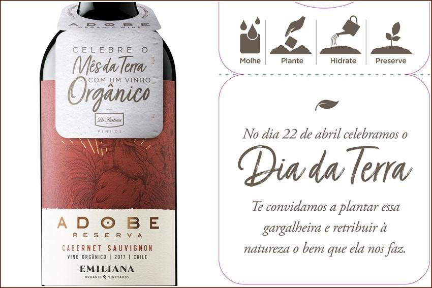 No Dia da Terra, vinhos Emiliana com gargalheira germinável
