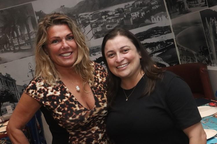 Restaurante Atlântica foi o escolhido por Anne Pepela Surita e Monique Hortolani