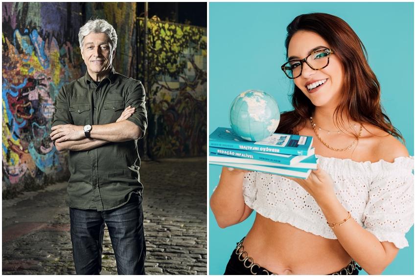 Caco Barcellos e Débora Aladim falam com o público capixaba sobre escolha da profissão