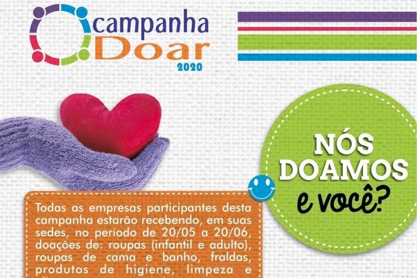 Campanha DOAR arrecada produtos de higiene e limpeza e alimentos não perecíveis