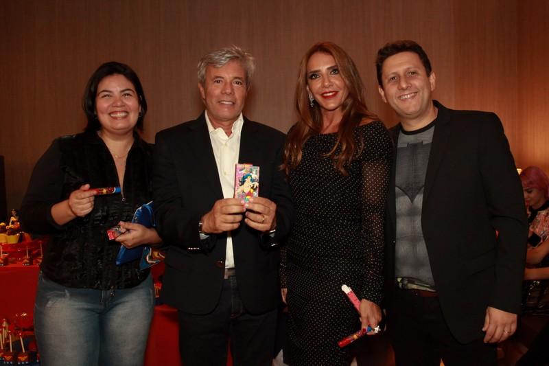 Cecilia Lima, Walmir Paulino, Flavia Rocha e Luiz Mantovani