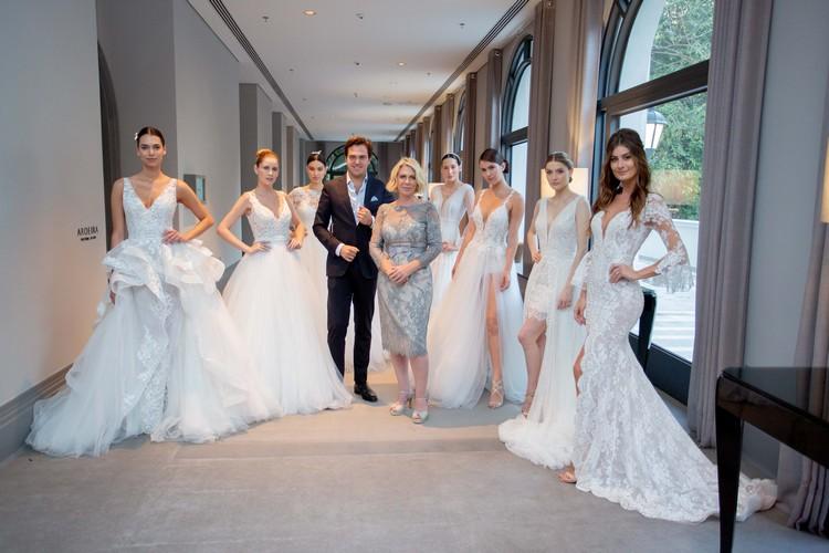 Daniel Clará e Valéria Bressiani com as modelos
