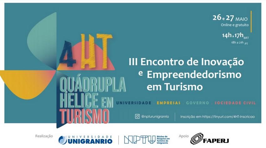 III Encontro de Inovação e Empreendedorismo em Turismo - Quádrupla Hélice em Turismo