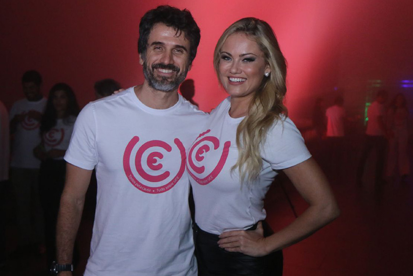 Eriberto Leão e Ellen Rocche participam de campanha da UCE,