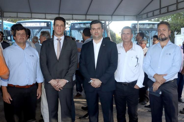 Marcelo DAvila (MAN, Raphael Trés (Ceturb ES), Jorge Carrer (MAN),  Gilberto Lopes (Diretor Autobahn), Marcos Barreira (MAN)