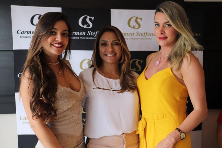 Monica Melissa (MVogue Spa), Helide Pires (Carmen Steffens Metropolitano Shopping) e Prislla DJ