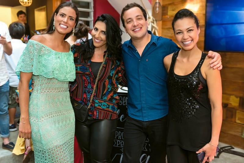 Tatiana Rabello, Danny Ortali, Rafael Cortez e Chef Sabrina Kanal, Master Chef e prorpietária do La Carrosse