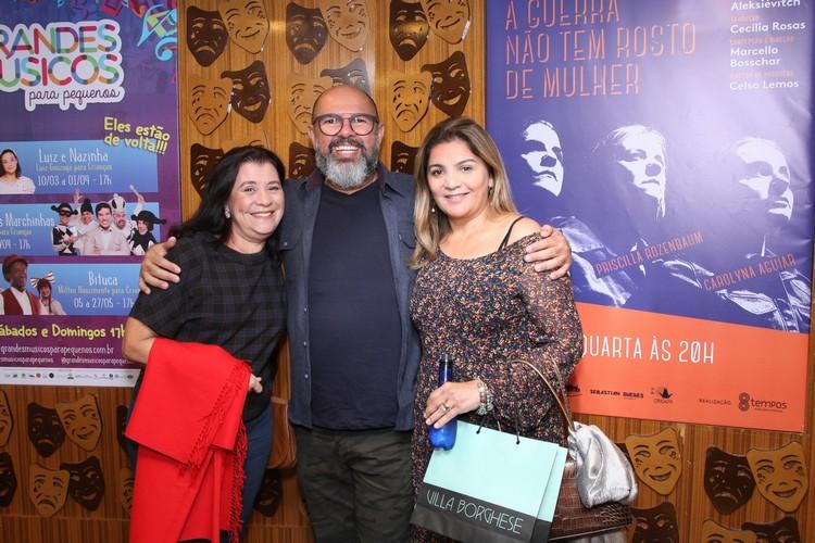Terezinha Lopes,Celso Lemos e Marcia Demby
