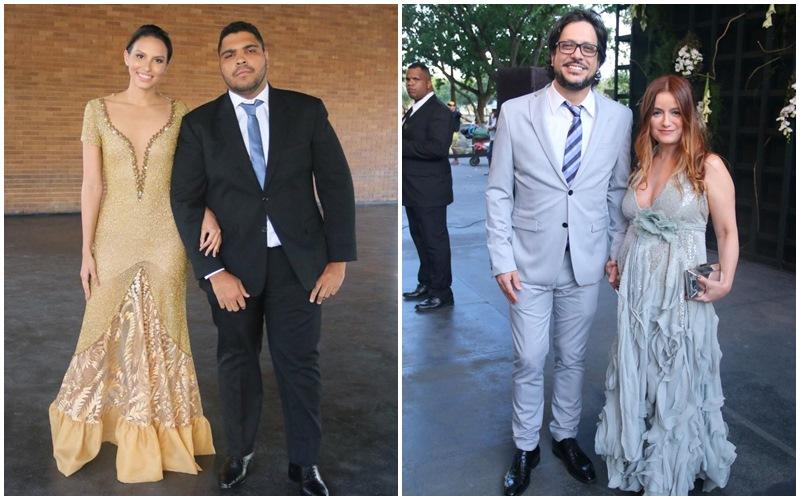 Ilana Sales e Paulo Vieira.  Lucio Mauro Filho e Cintia Oliveira
