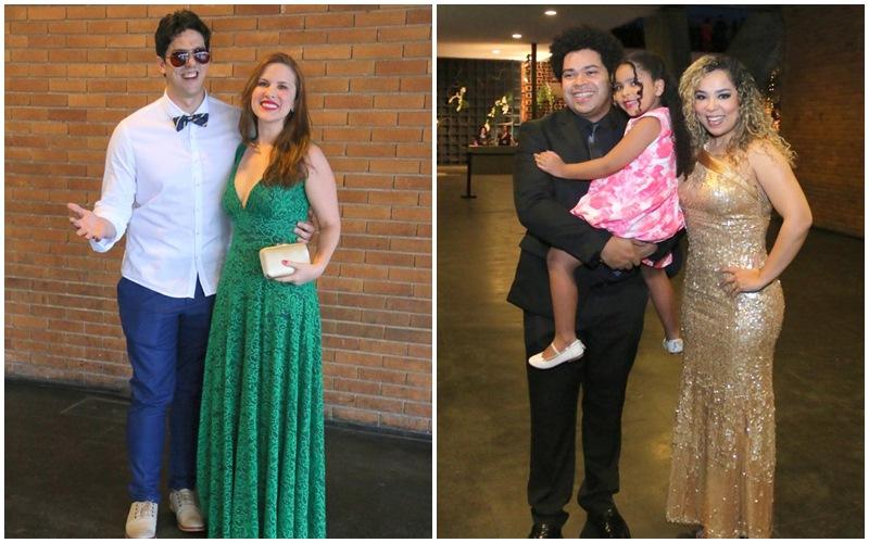 Rafael Infante e Tatiana Novaes.  Robson Nunes e Micheli Machado com Morena