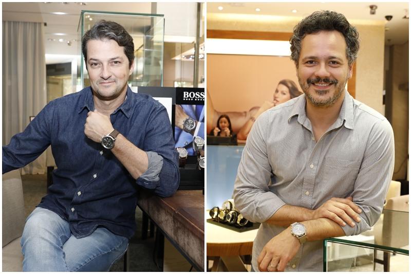 Marcelo Serrado e Danton Mello celebram o Dia dos Pais