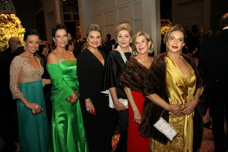 Geisi Torezani, Gláucia Baião, Marcela e Regina pagani, Gracinha Neves e Inaiá Fontes