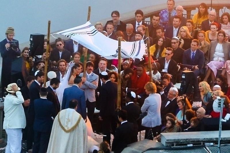 O Cristo Redentor por testemunha do casamento de Guy Oseary e Michelle Alves