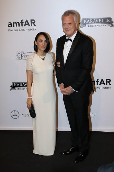 Maria Prata e Pedro Bial
