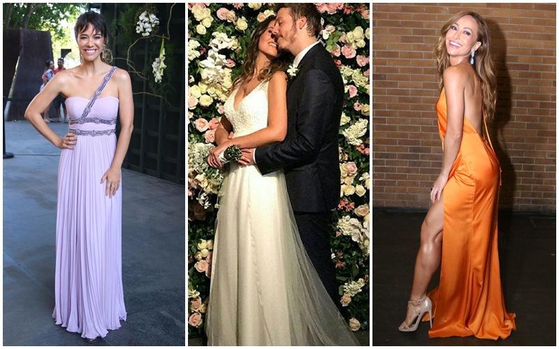Famosos capricham nos looks para o casamento de Fábio Porchat e Nataly Mega