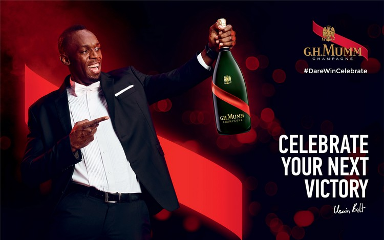 A Maison Mumm revela os segredos do sucesso de Usain Bolt