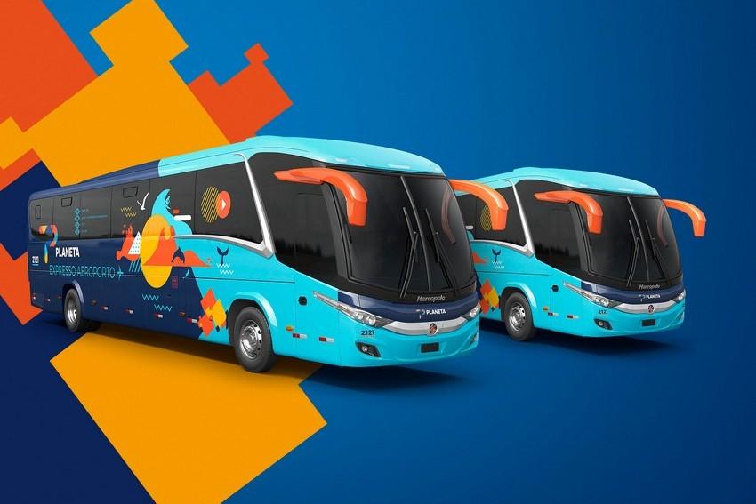 Viação Planeta. Novos ônibus, novas cores e nova marca.